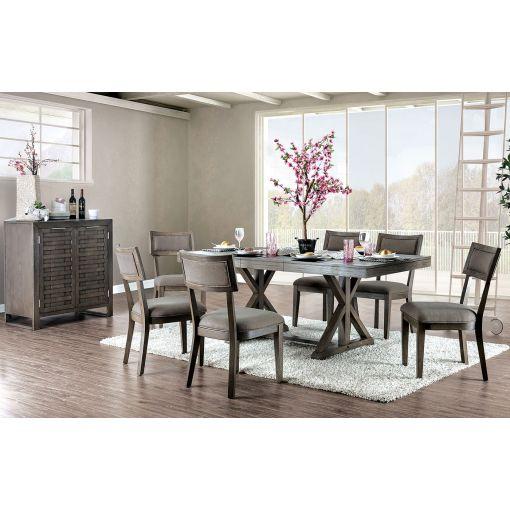 Belize Mid Century Modern Dining Table Set
