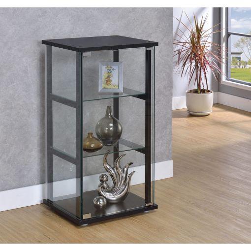 Bently 3-Shelf Glass Curio