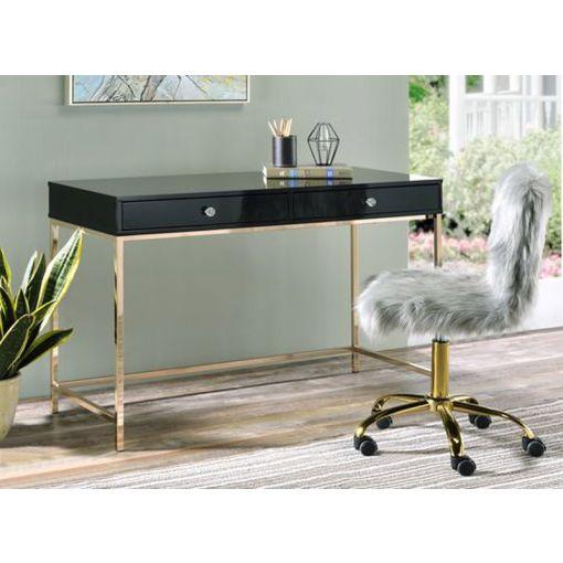 Bester Black Lacquer Home Office Desk