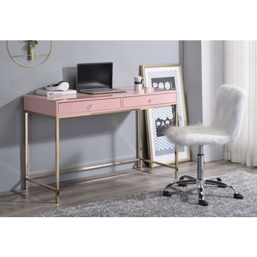 Bester Pink Lacquer Home Office Desk
