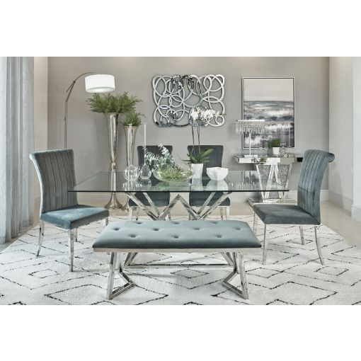 Bloss Glass Top Dining Table