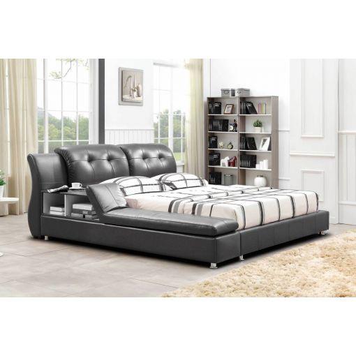 Bovina Grey Platform Bed With Display