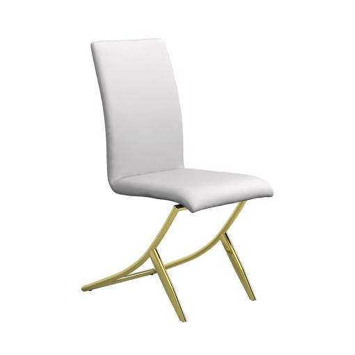 Brady White Gold Dining Chairs