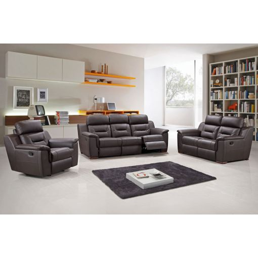 Becky Modern Leather Recliner Sofa Set