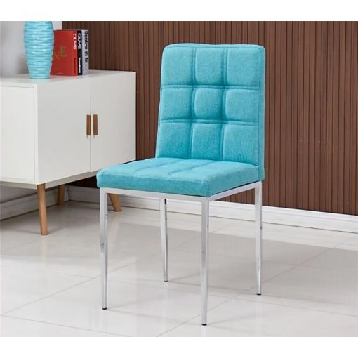 Bresso Sky Blue Fabric Dining Chairs