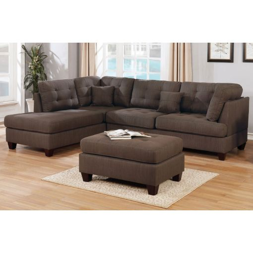 Camden Sectional With Ottoman Set