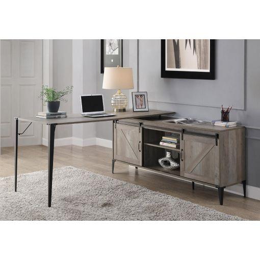 Capto Rustic Grey L-Shape Office Desk