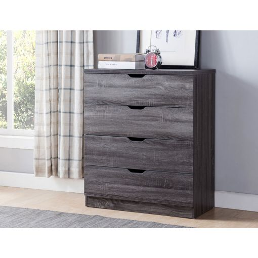 Cargo Rustic Grey Four Drawer Chest