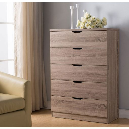Cargo 5-Drawer Chest Rustic Taupe