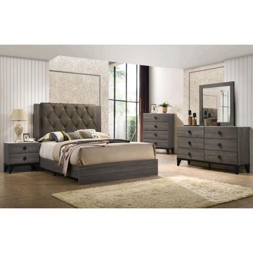 Celestial Rustic Grey Bed