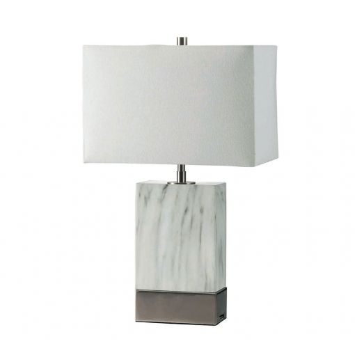 Circa Table Lamp With Silver Base
