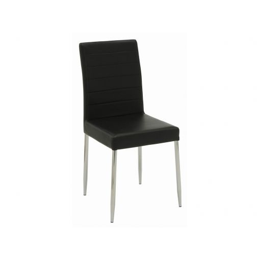 Clio Black Leather Dining Chairs