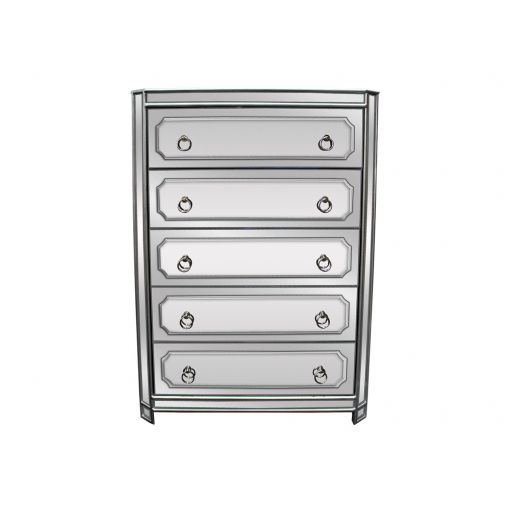 Concerto Mirrored Tall Chest