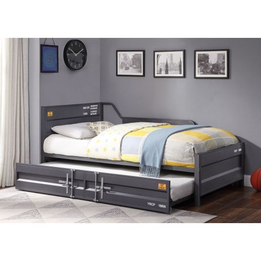 Container Gunmetal Finish Daybed With Trundle