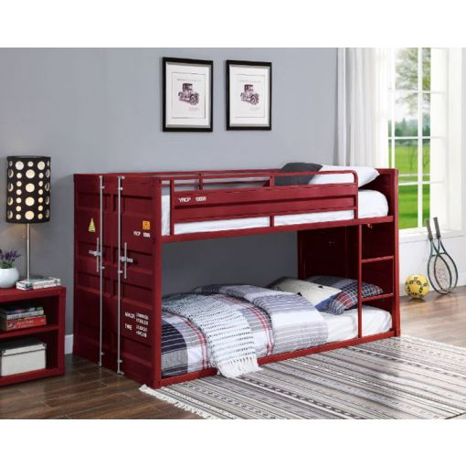 Container Red Finish Bunkbed