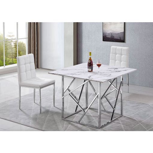 Corey Marble Top Dining Table Set