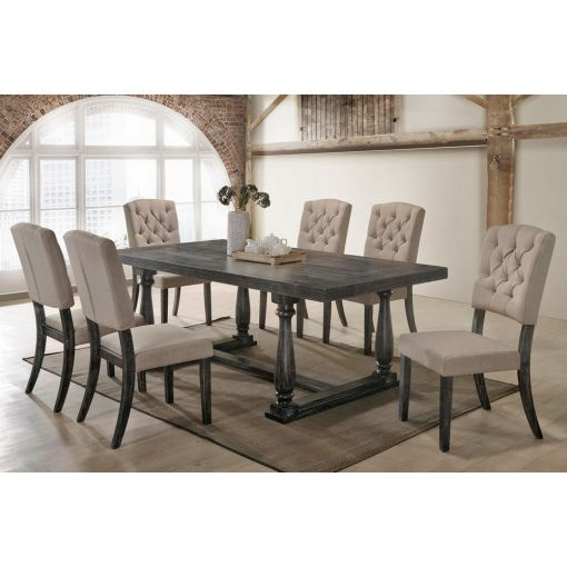Corliss Weathered Grey Dining Table