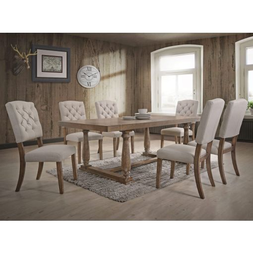 Corliss Weathered Oak Dining Table