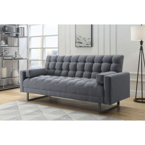Crossover Grey Linen Sofa Bed Futon