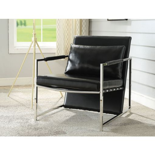 Cymone Modern Black Accent Chair