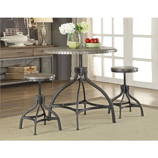 Decker Adjustable Height Round Dining Set