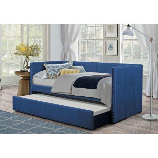 Deco Blue Linen Daybed Set