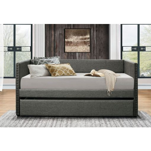 Deco Grey Linen Fabric Daybed