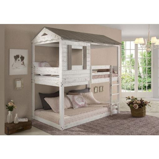 Farmhouse Rustic Grey Bunkbed