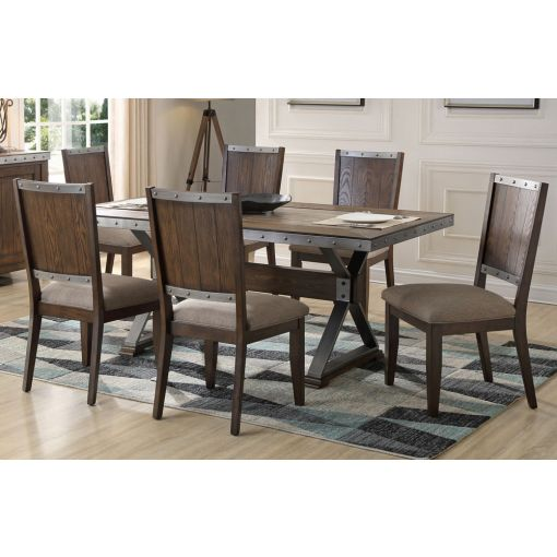 Doran Industrial Style Dining Table Set