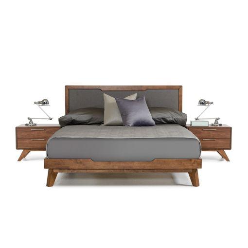 Erminio Rustic Walnut Finish Bed