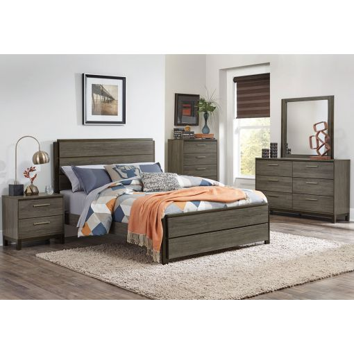 Fantine Rustic Grey Bedroom Furniture