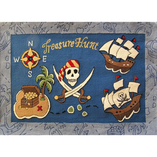 Treasure Hunt Kids Room Hand Tufted Rug