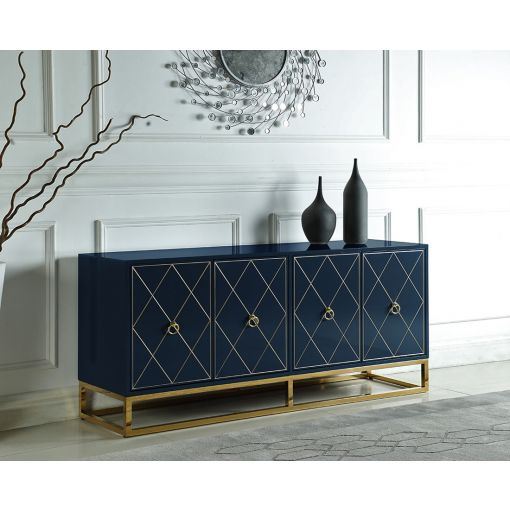 Fitz Navy Blue Buffet With Gold Accents