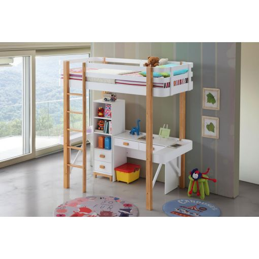 Flynn Twin Loft Bed With Desk