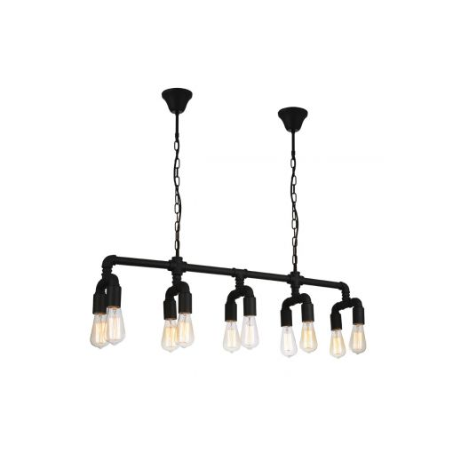 Galena Industrial Style Pipe Chandelier