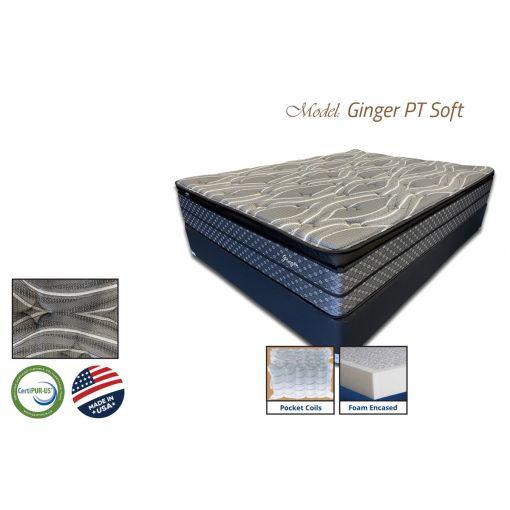Ginger Foam Encased Pillow Top Mattress