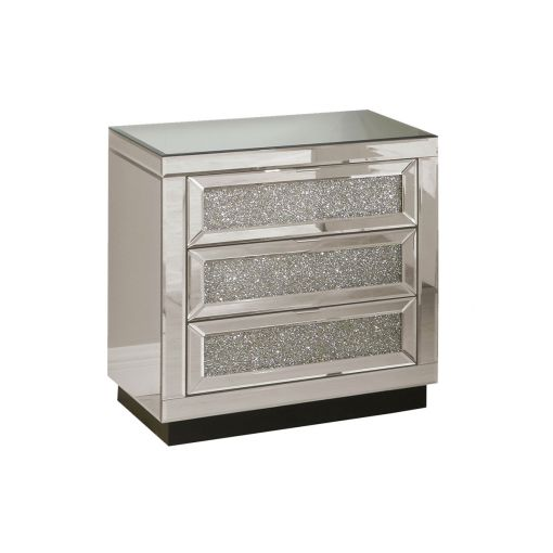 Glimmer Mirrored Night Stand