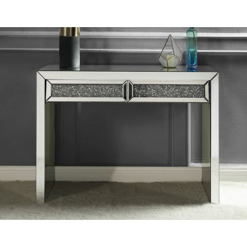 Glimmer Mirrored Console With Drawers