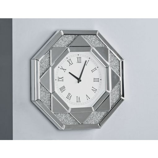 Glimmer Mirrored Wall Clock