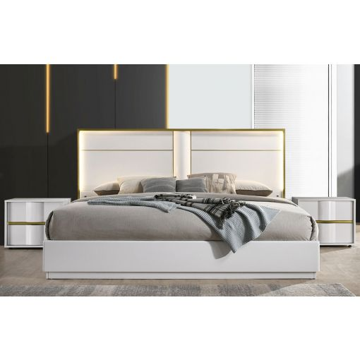 Hana Modern Bed With Light