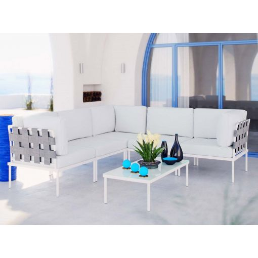 Harmony White Outdoor Sectional Set
