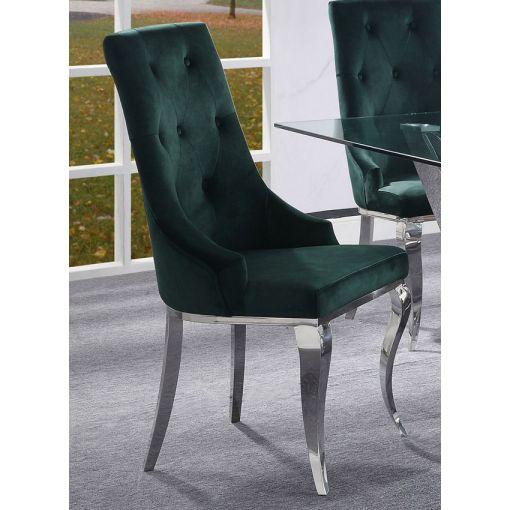Healy Green Velvet Chair