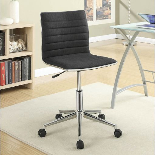 Hudson Black Fabric Office Chair