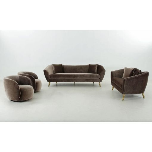 Jerico Coffee Flannelette Sofa Set