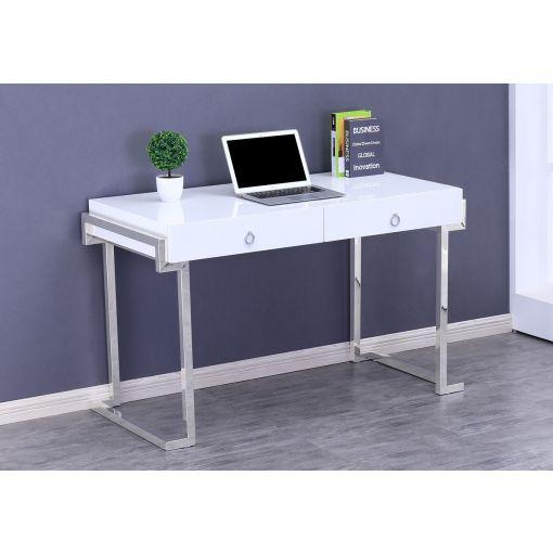 Julia Glossy White Home Office Desk