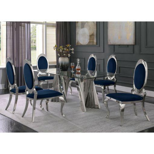 Kappa Glass Top Dining Table Set