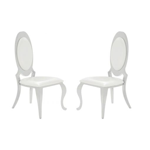 Kendall Chrome Finish Framed Dining Chair,Kendall Chair Back Side,Kendall Chrome Finish Framed Chair
