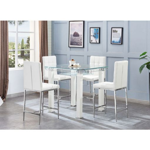 Ketch Modern Square Pub Table Set