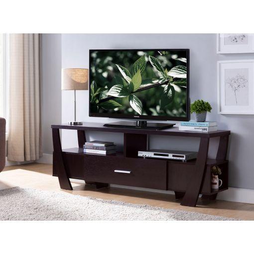 Lander Black Modern TV Stand,Lander TV Stand Drawers