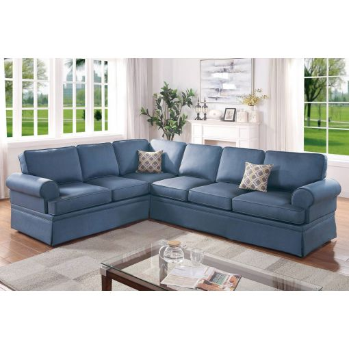 Lanette Blue Linen Sleep Cover Sectional